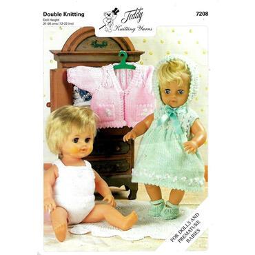 Teddy Pattern #7208 Dolls' Clothes