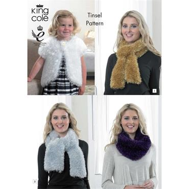 Tinsel Accessories Pattern - FREE with Tinsel Yarn  ***