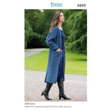 Tivoli Pattern #3600 Ladies Aran Jacket