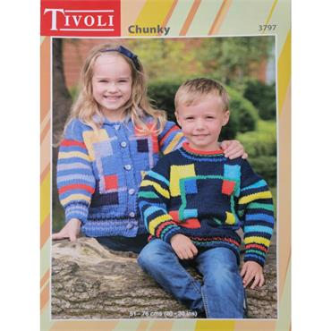 Pattern #3797 Kids Sweater and Jacket in Chunky