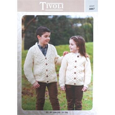 Tivoli Pattern #3867 Children's Aran Cardigans
