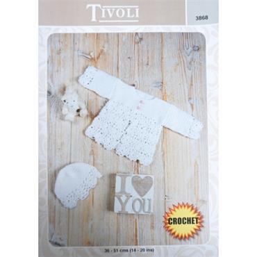 Tivoli Pattern #3868 Crochet Jacket & Bonnet in DK