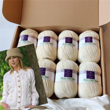Tree of Life Cardigan Pattern & Yarn Gift Box  10 ball pack