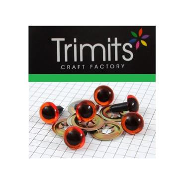 Trimits 10mm Amber Toy Eyes (Safety Eyes) - 3 Pairs