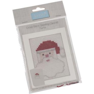 Trimits - Cross Stitch Christmas Card Kit - Santa ***