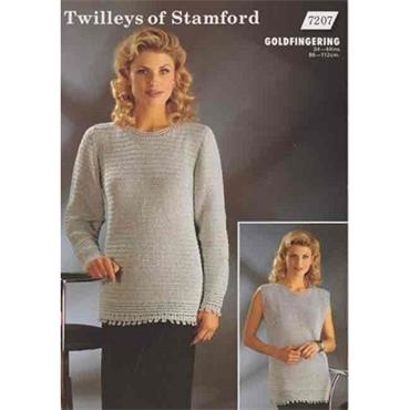 Twilleys of Stamford Pattern #7207 Long Sleeved & Sleeveless Tunics (crochet)