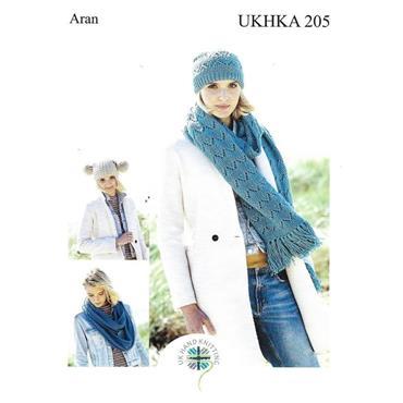 UKHKA Pattern #205 Aran Accessories