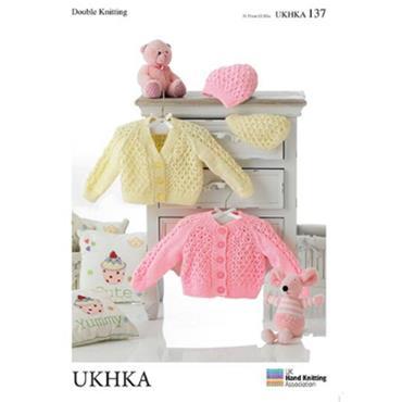 UKHKA Pattern #137 Baby Cardigans & Hats DK