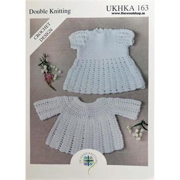 UKHKA Pattern #163 Crochet Dress & Angel Top in Double Knitting