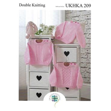 Pattern #209 Sweaters Knitted in DK