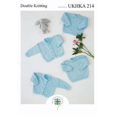 Pattern #214 Sweaters & Cardigans Knitted in DK