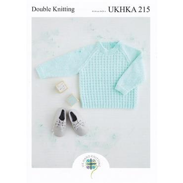 UKHKA Pattern #215 Baby Boy's & Boy's Sweaters in DK