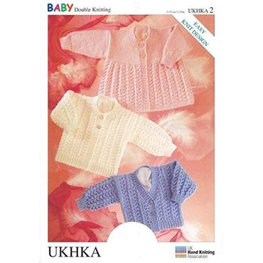 UKHKA Pattern #2 Cardigans & Matinee Coat DK
