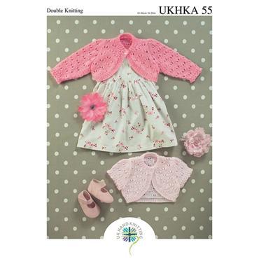Pattern #55 Babies Bolero Knitted in DK