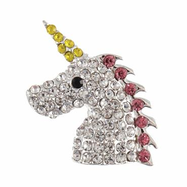 Diamante Unicorn Button - 30mm