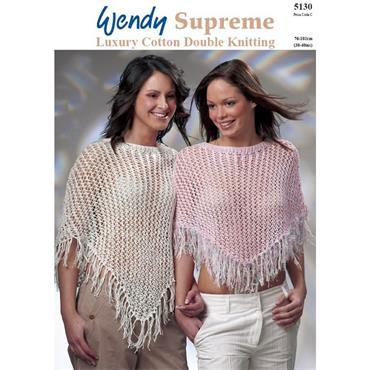 Wendy Pattern #5130 Lacy Ponchos in DK