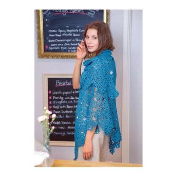 Wendy Pattern #5885 Crochet Motif Shawl in 4ply