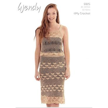 Wendy Pattern #6025 Crochet Camisole & Skirt in 4ply