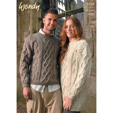 Wendy Pattern #5742 Sweater and Tunic in Aran