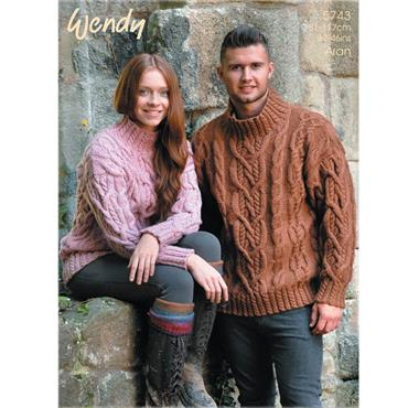 Wendy Pattern #5743 Sweater in Aran with Wool
