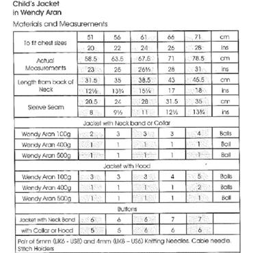Wendy Pattern #5744 Child's Jacket in Aran