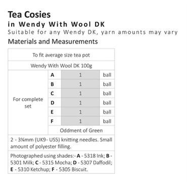 Wendy Pattern #6096 Tea Cosies in DK
