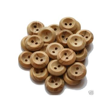 1 x Wooden Button (25mm) Size 40     inv