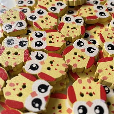 Owl Buttons - 20mm