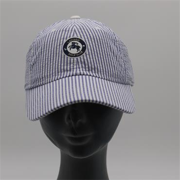 Ladies Seersucker Cap, Blue