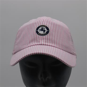 Ladies Seersucker Cap, Pink