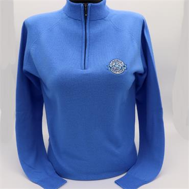 Ladies Merino 1/4 Zip Sweater