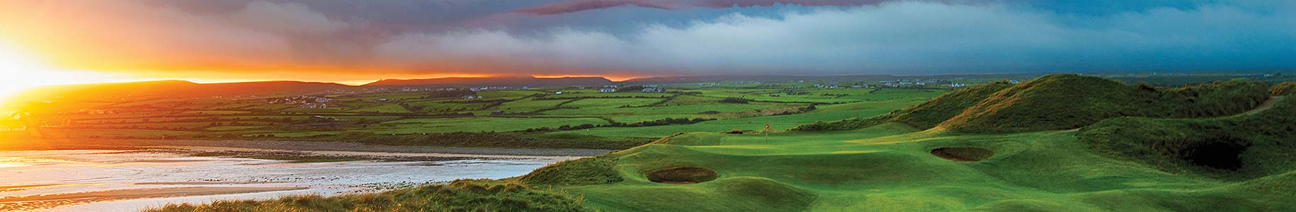 Lahinch Golf Course at sunset
