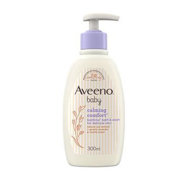 Aveeno Baby Calming Comfort Bedtime Bath and Wash 300ml