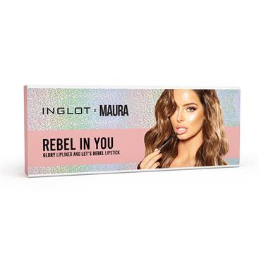 Inglot X Maura Rebel in You Lipliner and Lipstick Set