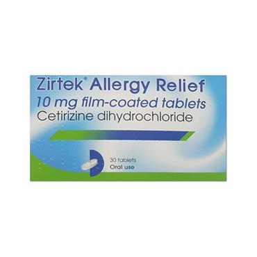 ZIRTEK ALLERGY RELIEF 10MG FC TABS OTC 30S