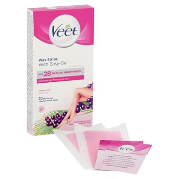 VEET COLD WAX STRIPS NORMAL SKIN 20S