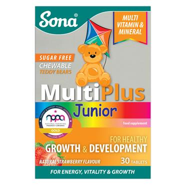 SONA MULTIPLUS JUNIOR CHEWABLE 30's