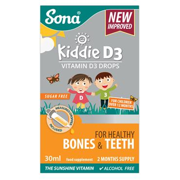 SONA KIDDIE D3 - VITAMIN D3 DROPS 30ML