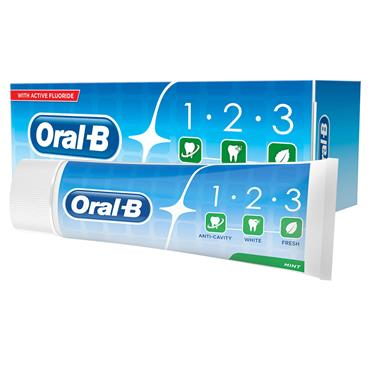 ORAL B 1 2 3 FLUORIDE TOOTHPASTE MINT 100ML