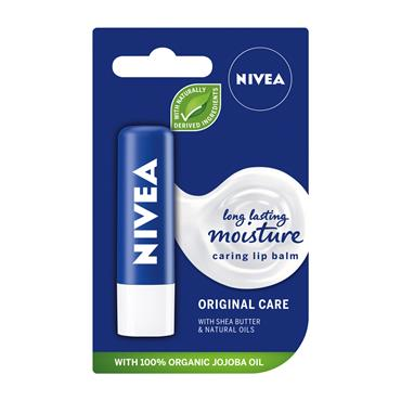 NIVEA LIP ORIGINAL  (NEW LONG LASTING MOISTURE + NATURAL OILS)