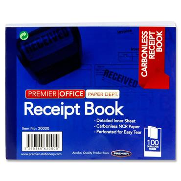 PREMIER OFFICE CARBONLESS RECEIPT BOOK 100pg