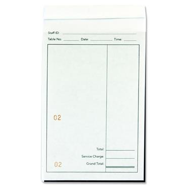 Premier Office Carbonless Restaurant Pad 10x16.5cm 50 Sheet
