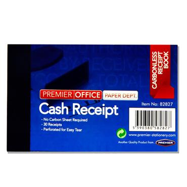 "Premier Office 4""x2.5"" Carbonless Duplicate Cash Receipt Book"