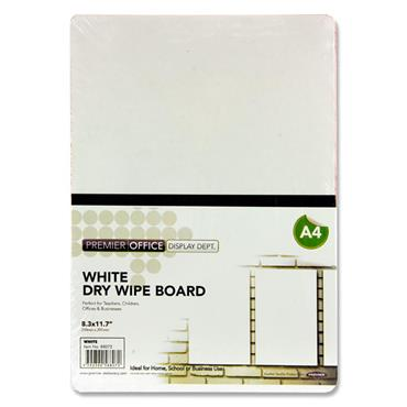 Premier Office A4 Coloured Dry Wipe Board - White