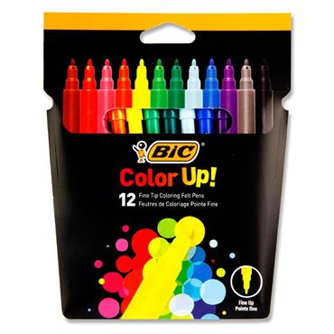 Bic Colour Up Pkt.12 Fine Tip Colouring Felt Pens
