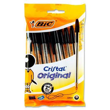 Bic Pkt.10 Cristal Ballpoint Pens - Black