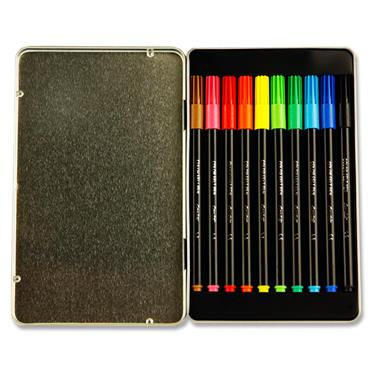 Bic Conte Tin 12 Felt Tip Colouring Markers