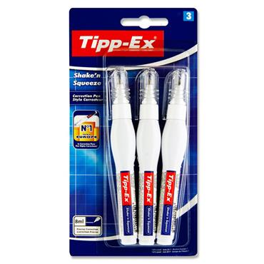 Tippex Card 3 8ml Shake 'n Squeeze Pens