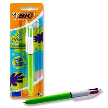 Bic 4 Colour Biro Fashion - Carded