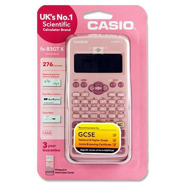 Casio Fx-83gtx Scientific 276 Functions Calculator - Pink